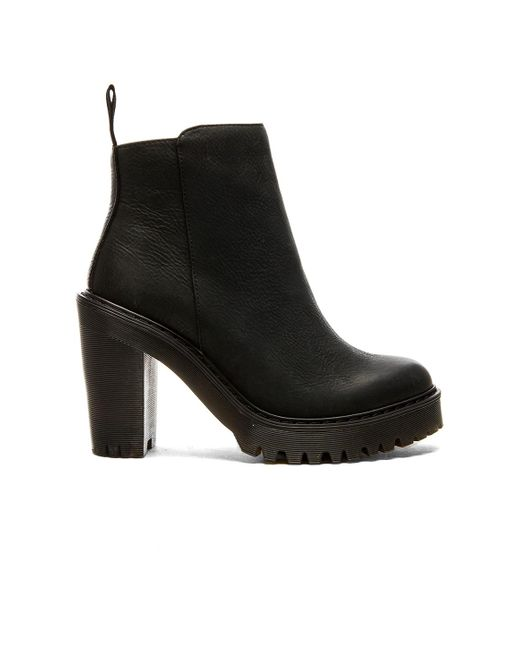 Dr. Martens - Black Magdalena Leather Ankle Boots - Lyst