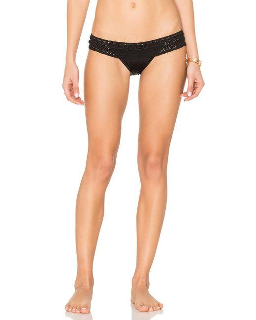 Beach Bunny   Black Crochet Lady Lace Skimpy Bikini Bottom   Lyst
