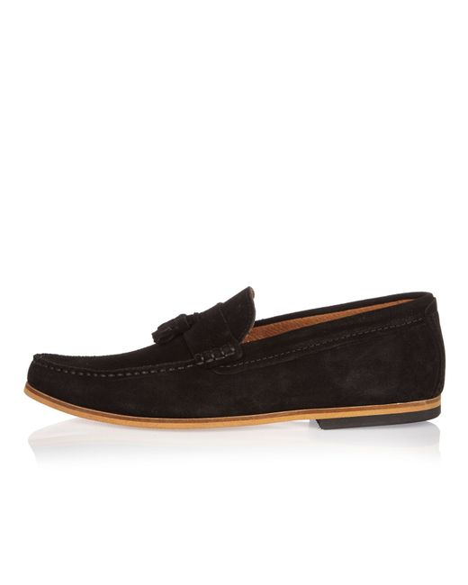 River Island Black Tassel Shoes