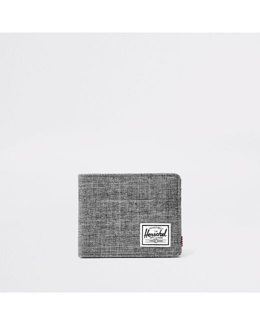 River Island - Gray Herschel Grey Roy Crosshatch Wallet for Men - Lyst