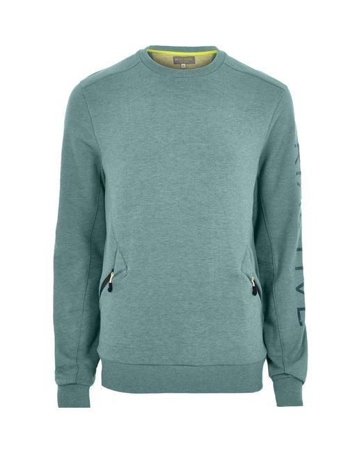 River Island | Green Ri Active Teal Crew Neck Sweatshirt for Men | Lyst