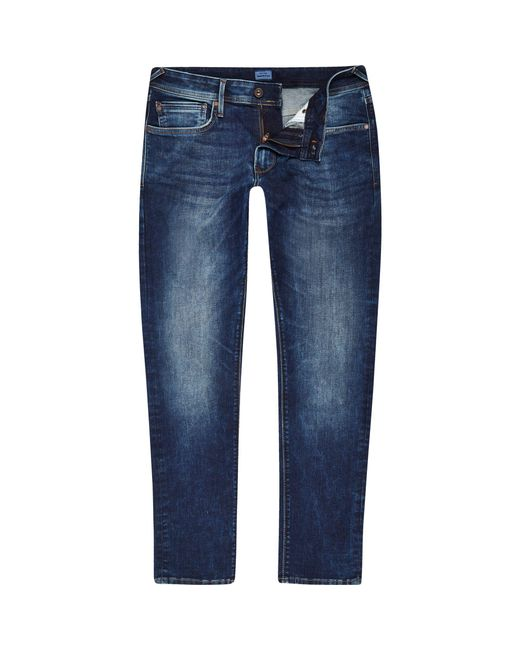 River Island - Blue Pepe Jeans Mid Stanley Tapered Jeans for Men - Lyst