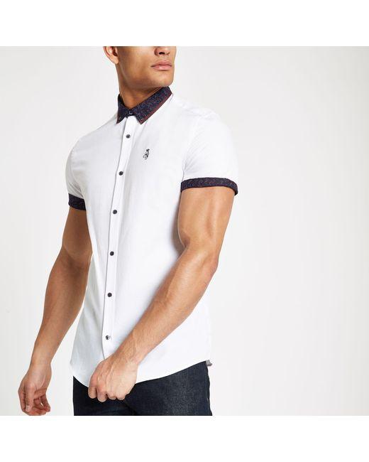 c1904604 River Island - White Paisley Print Collar Button-down Shirt for Men - Lyst  ...