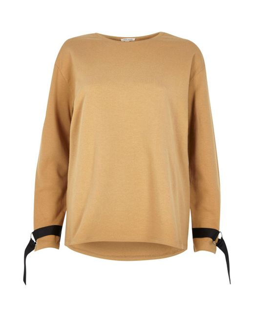 River Island | Light Brown Ring Detail Long Sleeve Sweater | Lyst
