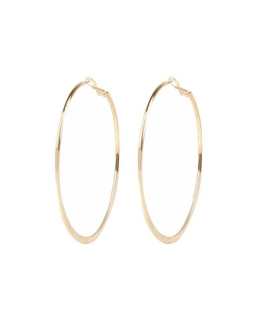 River Island   Metallic Gold Tone Medium Flat Bottom Hoop Earrings   Lyst