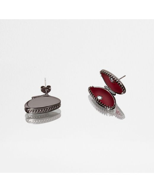 River Island   Green Design Forum Fly Stud Earrings   Lyst
