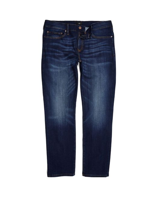 River Island - Blue Dark Slim Fit Dylan Jeans for Men - Lyst
