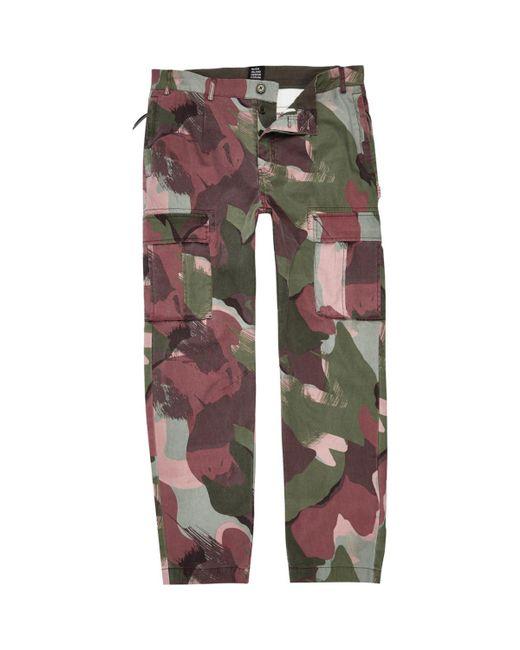 River Island | Multicolor Khaki Green Design Forum Camo Cargo Trousers for Men | Lyst