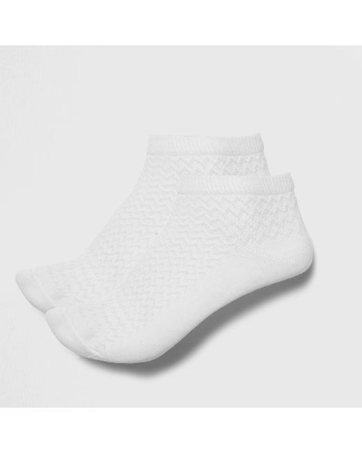 River Island - White Textured Sneakers Socks Multipack - Lyst