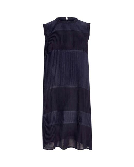 River Island   Blue Navy Sleeveless Pleated Swing Dress   Lyst