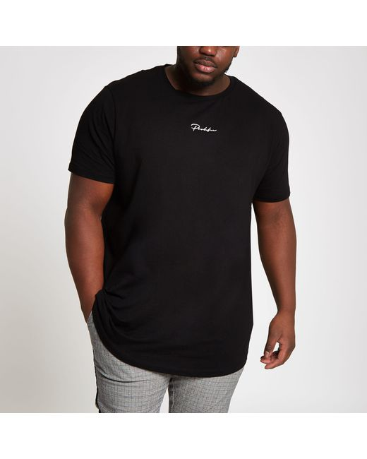8933d600 River Island Big And Tall 'prolific' Curve T-shirt in Black for Men ...