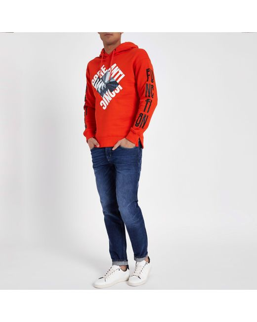 Shop For Online River Island Mens Jack and Jones Core Red iconic hoodie Jack & Jones Clearance Store Cheap Price Free Shipping Largest Supplier Free Shipping Cheap Clearance Sast DB3SebyEDW