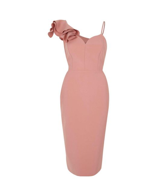 Pink Off The Shoulder Dress River Island