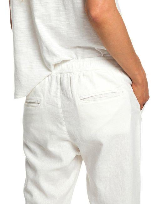 1e29172903 ... Roxy - White Linen Trousers - Lyst ...
