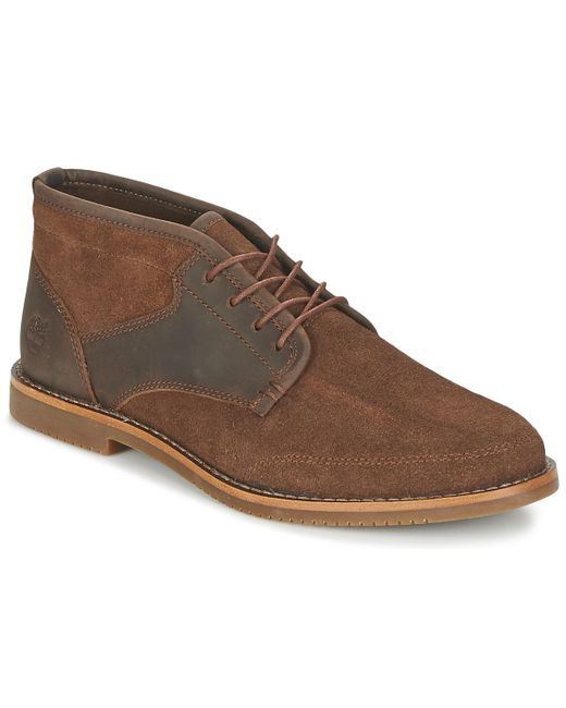 Timberland - Brown Fg/suede Half Cab Chukka Mid Boots for Men - Lyst