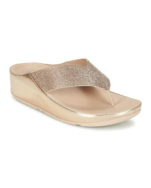 Fitflop - Pink Crystall Flip Flops / Sandals (shoes) - Lyst