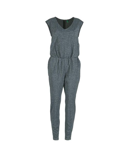 Benetton - Gray Eruna Jumpsuit - Lyst