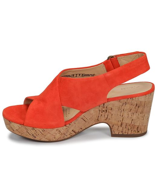 f468018fcde5b2 ... Clarks - Orange Maritsa Lara Sandals - Lyst ...