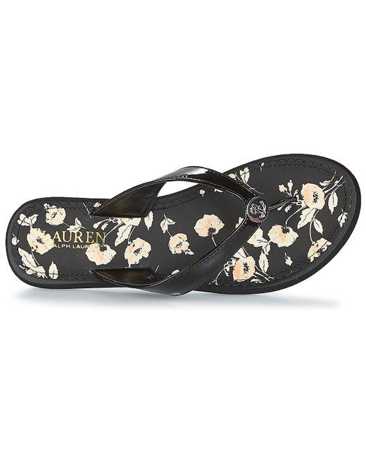 a749245b8424 ... Lauren by Ralph Lauren - Black Raia Flip Flops   Sandals (shoes) - Lyst  ...