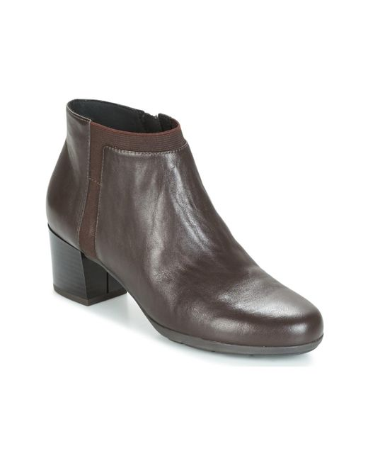 Geox - Brown D Annya Mid Low Ankle Boots - Lyst