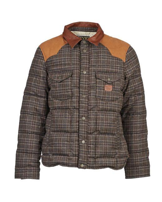 Chevignon - Brown K Worker Carreaux Jacket for Men - Lyst