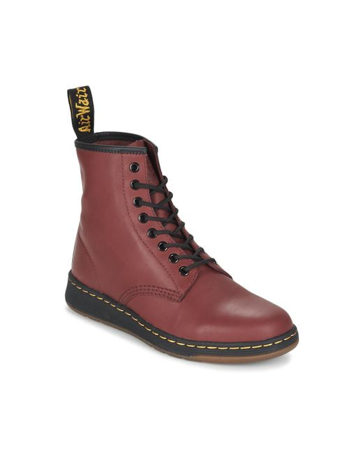 Dr. Martens | Red Newton Mid Boots for Men | Lyst
