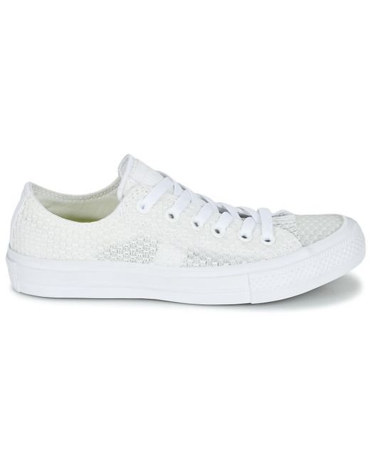 b3f1afd80309 ... Converse - White Chuck Taylor All Star Ii Festival Tpu Knit Ox Shoes  (trainers) ...