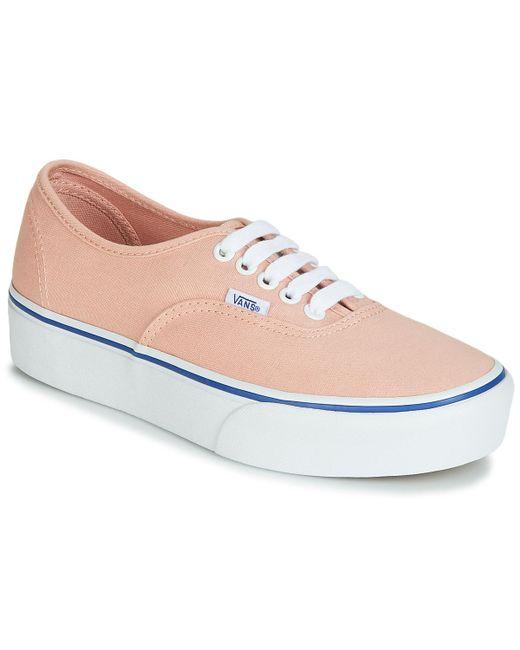 Vans - Authentic Platform 2.0 Women s Shoes (trainers) In Pink - Lyst ... ee9c522b1