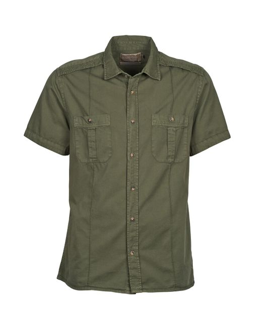Chevignon - Green C Military Twil Short Sleeved Shirt for Men - Lyst