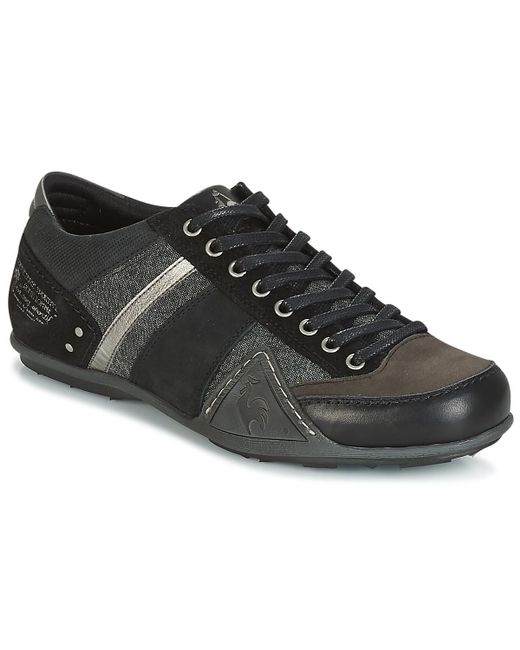 d0321230a365 Le Coq Sportif - Black Turin Chambray Shoes (trainers) for Men - Lyst ...