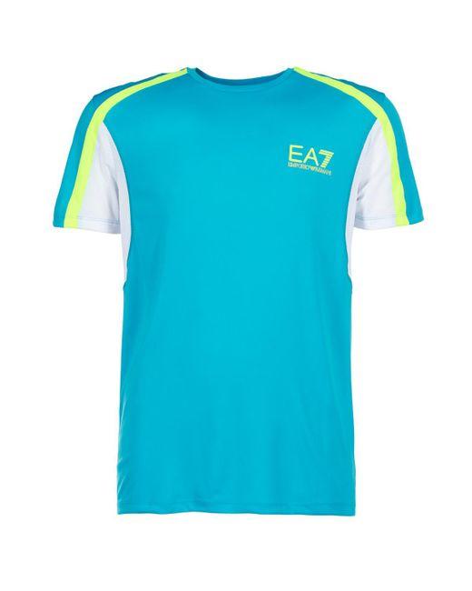 EA7 - Blue Short Sleeved T-shirt for Men - Lyst