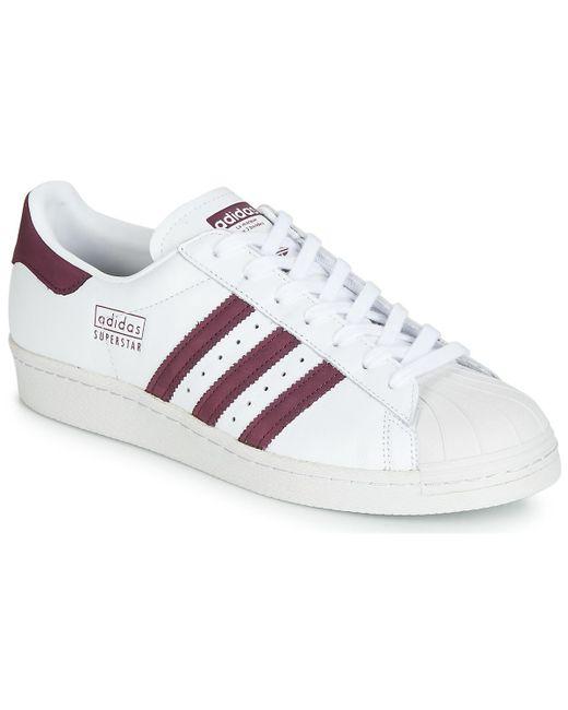 size 40 2de5e faf5e Adidas - White Superstar 80s Shoes (trainers) - Lyst ...