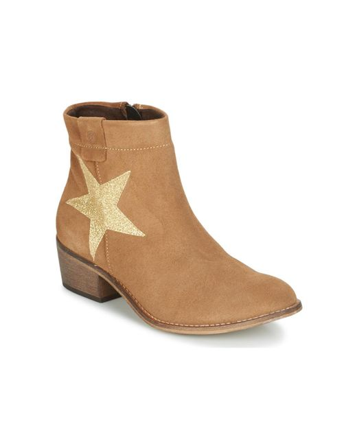 Betty London - Natural Makana Low Ankle Boots - Lyst