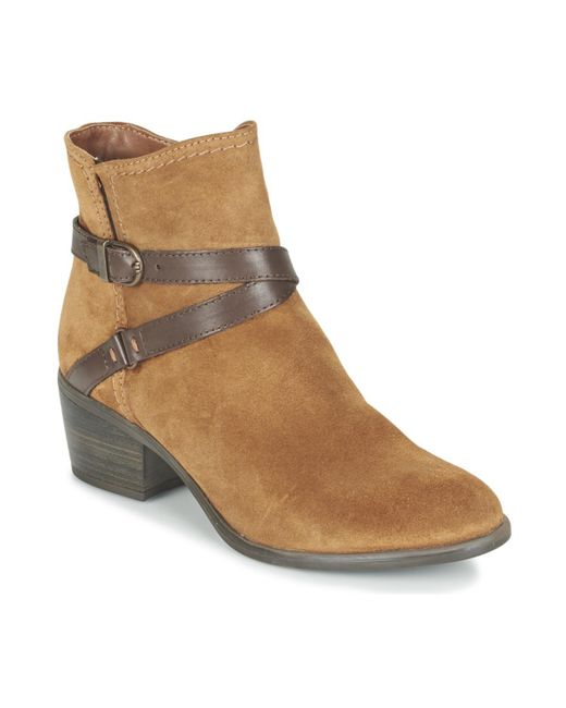 Tamaris - Brown Alaza Low Ankle Boots - Lyst