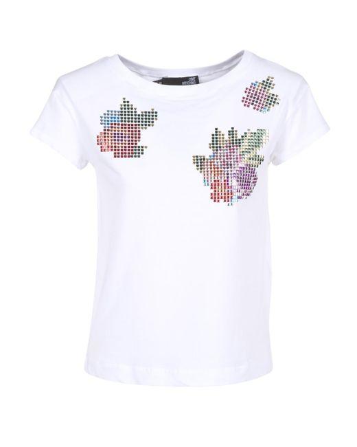 Love Moschino - W4f3051 Women's T Shirt In White - Lyst