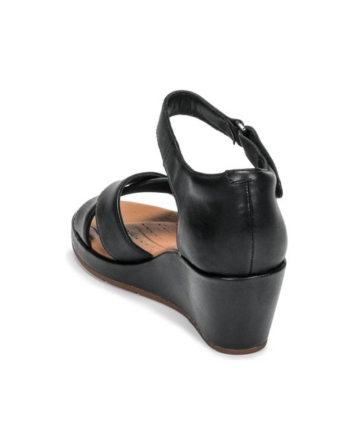 c17690682af0 ... Clarks - Black Un Plaza Cross Sandals - Lyst ...