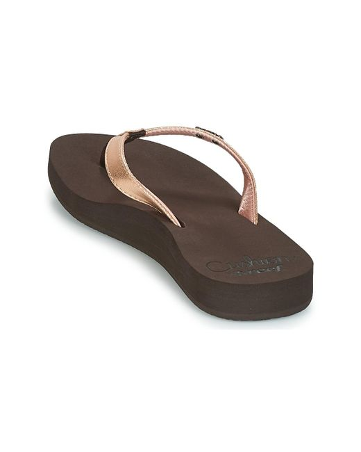 dcb0451432d463 ... Reef - Cushion Luna Women s Flip Flops   Sandals (shoes) In Brown ...
