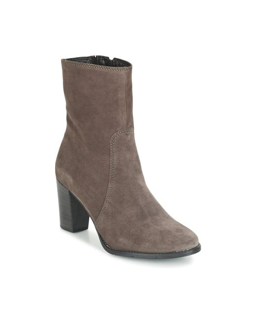 Tamaris - Gray Jenny Low Ankle Boots - Lyst