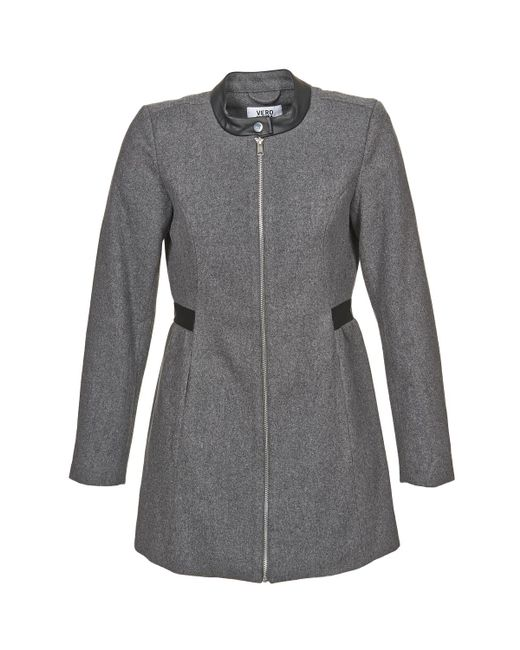 Vero Moda - Gray Capella Coat - Lyst