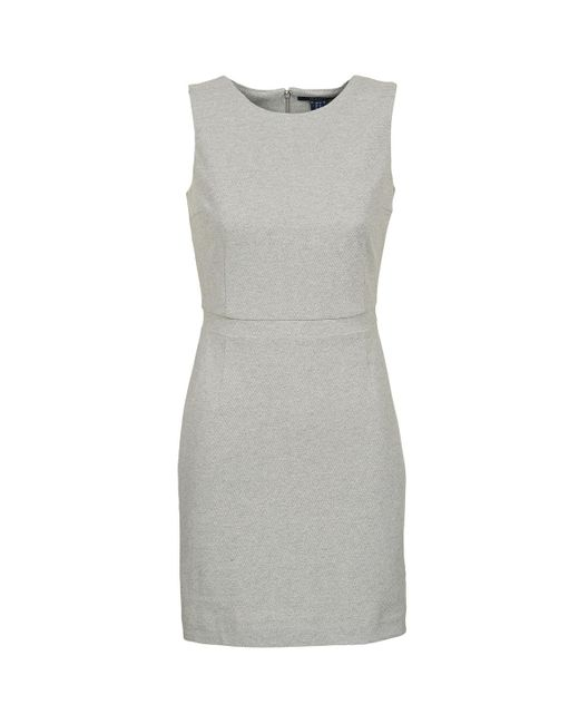 Gant - Gray L. Jersey Pique Dress - Lyst
