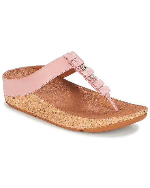 41d3afd61009a Fitflop - Ruffle Toe Thong Sandals Women s Flip Flops   Sandals (shoes) In  Pink ...