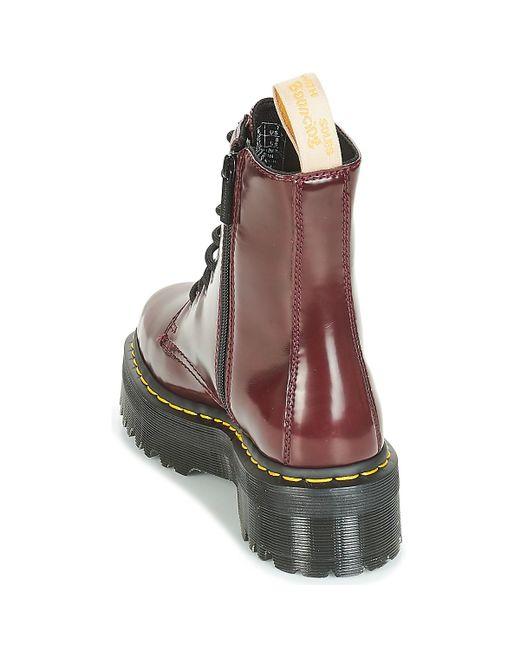 3c781d4ee2dd ... Dr. Martens - Red Jadon Mid Boots - Lyst ...