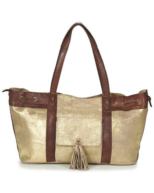 Pieces - Metallic Stella Leather Bag Shoulder Bag - Lyst