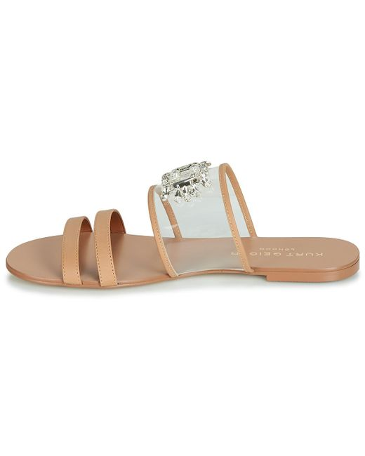 6229e39f9895 ... KG by Kurt Geiger - Brown Pia Vinyl Sandal Mules   Casual Shoes - Lyst  ...