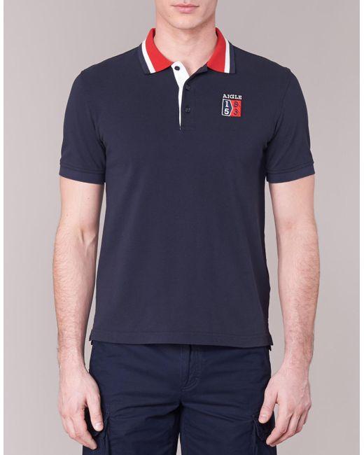 ... Aigle | 53 Poloshirt Men's Polo Shirt In Blue for Men ...