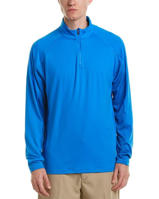 PUMA - Blue Core 1/4-zip Popover for Men - Lyst