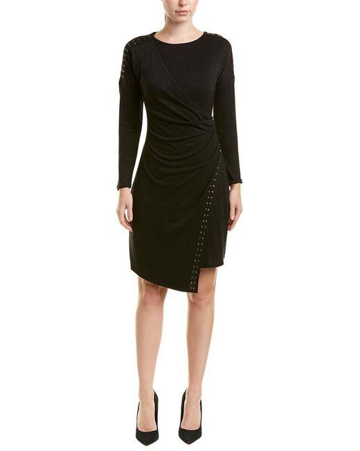 d31faf14b77 NIC+ZOE - Black Petite Faux Wrap Dress - Lyst ...