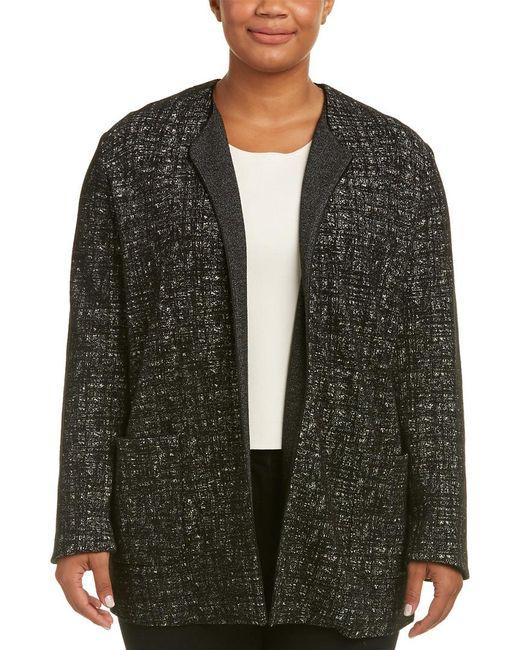 Marina Rinaldi - Black Wool-blend Coat - Lyst
