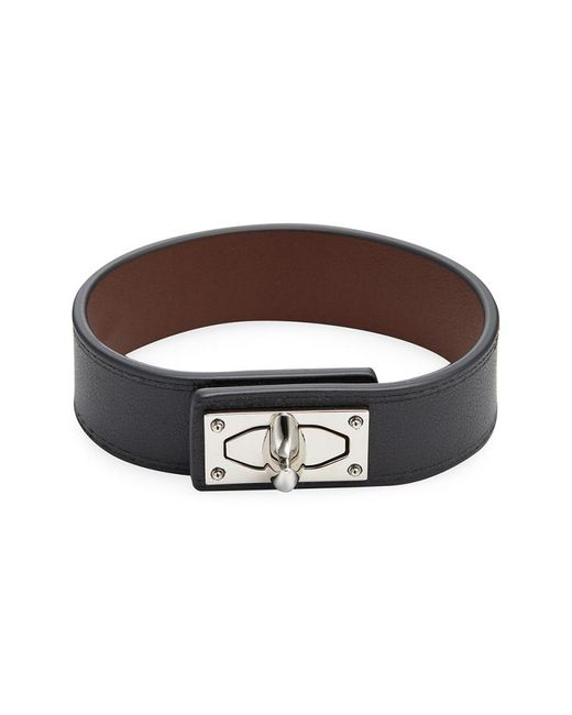 Givenchy - Black Shark Leather Bracelet - Lyst