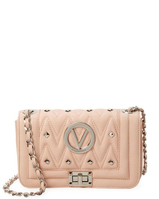 Valentino By Mario Valentino - Natural Beatrized Sauvage Leather Crossbody Bag - Lyst